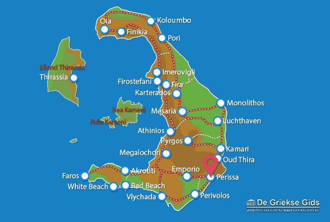 Karte Perissa