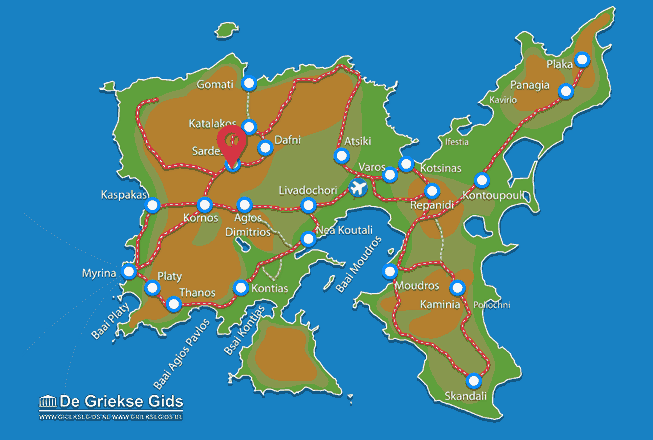 Karte Sardes