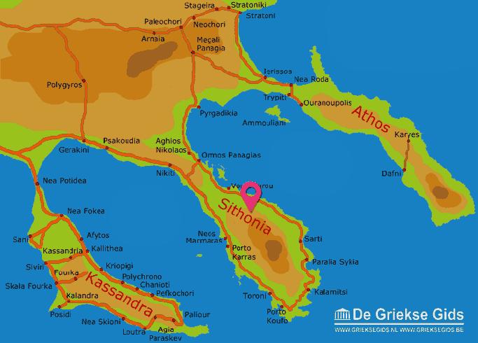 Karte Sithonia