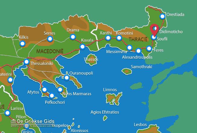 Karte Soufli
