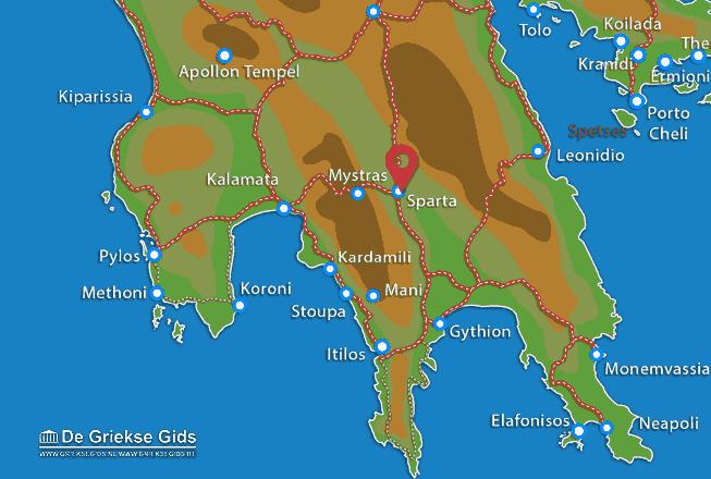Karte Sparta