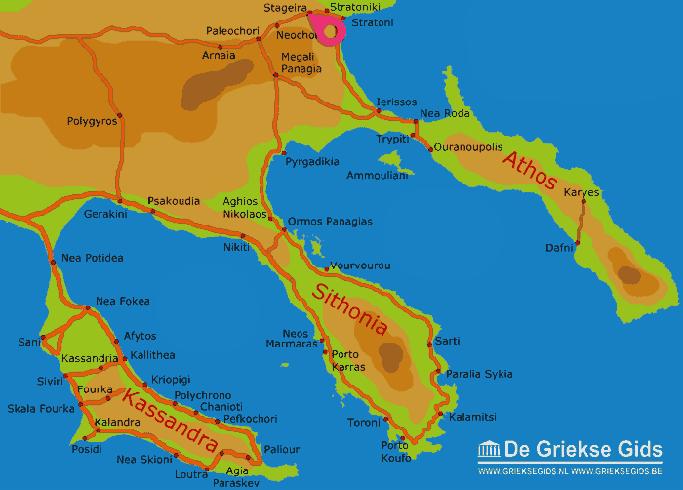 Karte Stageira