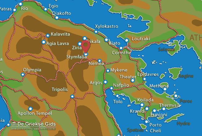 Karte Stymfalia