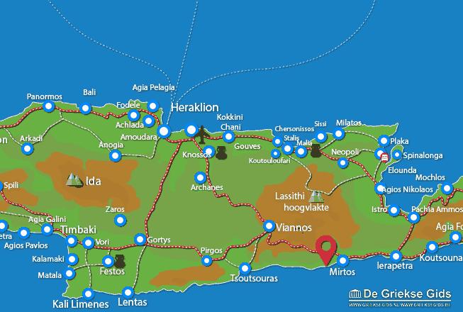 Karte Tertsa