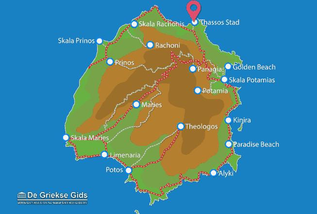 Karte Thassos Stadt