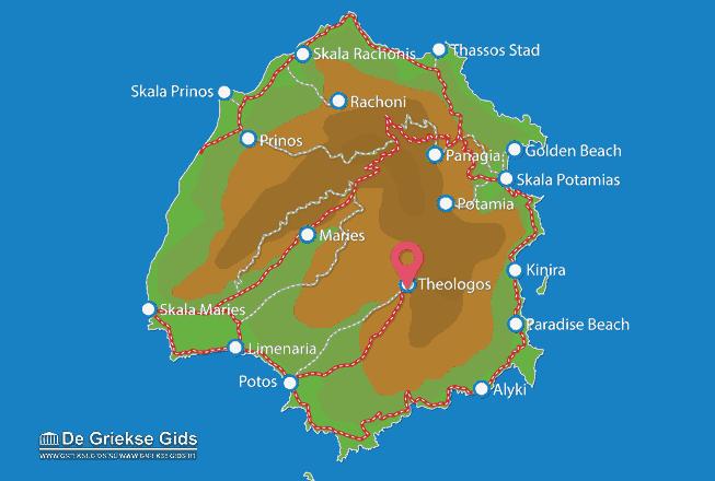 Karte Theologos