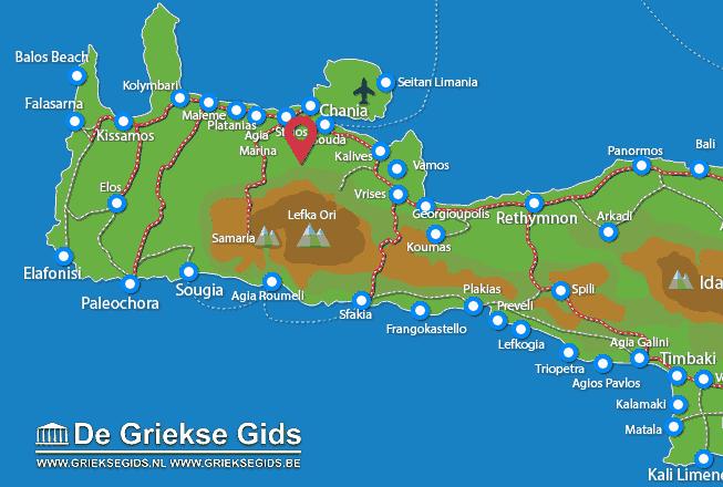 Karte Therissos