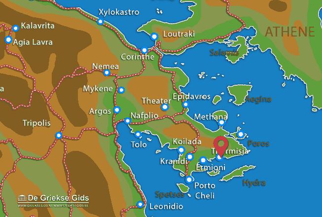 Karte Thermisia