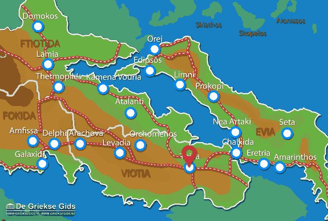 Karte Thiva