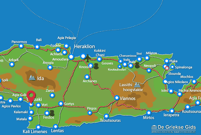 Karte Timbaki