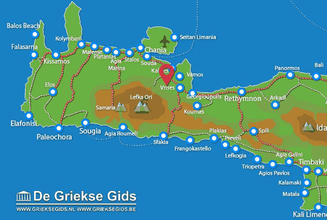 Karte Tsitsifes