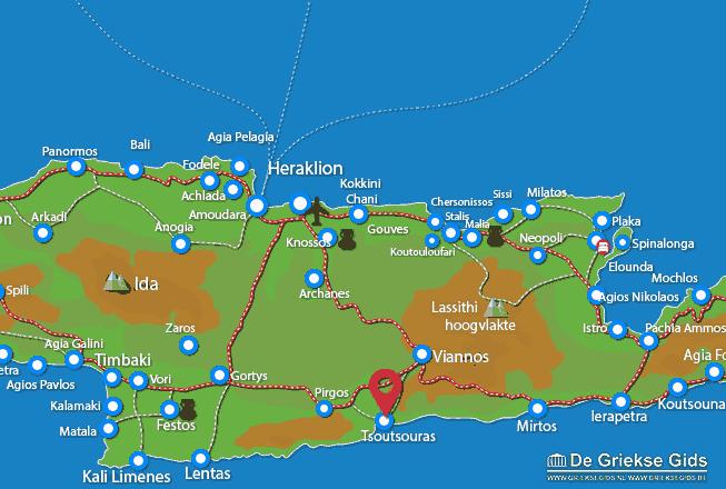 Karte Tsoutsouras
