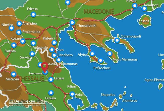 Karte Tyrnavos