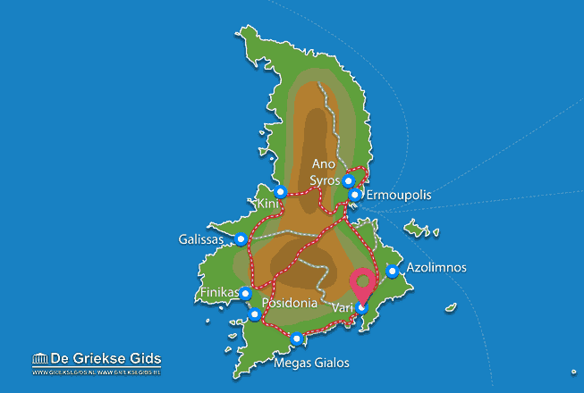 Karte Vari