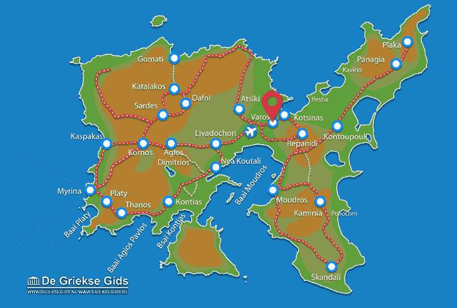 Karte Varos