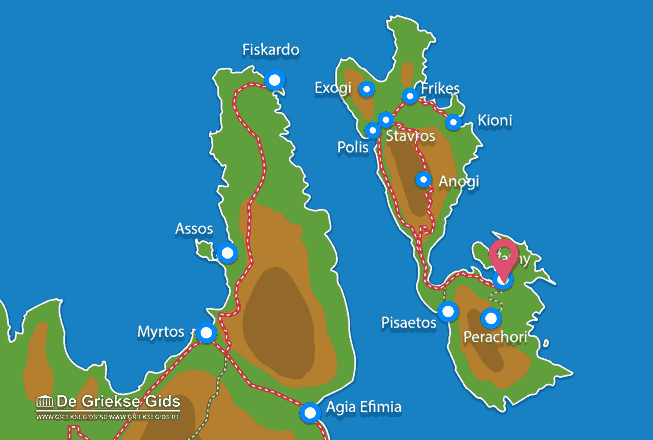 Karte Vathy