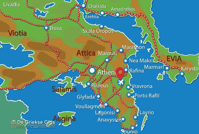 Karte Flughafen Athen