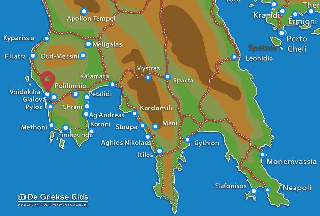 Karte Voidokilia