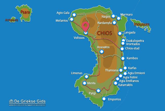 Karte Volissos