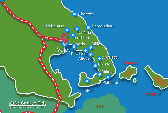 Karte Volos