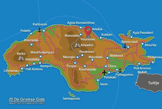 Karte Vourliotes
