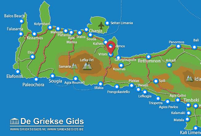 Karte Vrises