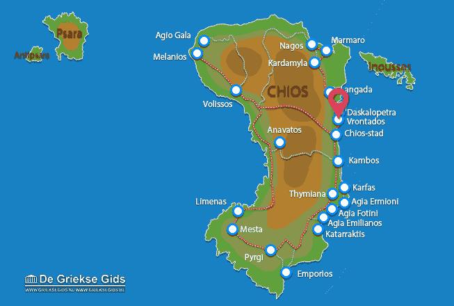 Karte Vrondados