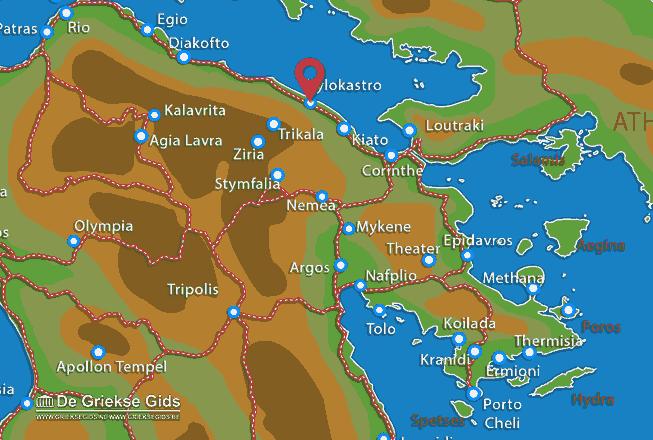 Karte Xylokastro