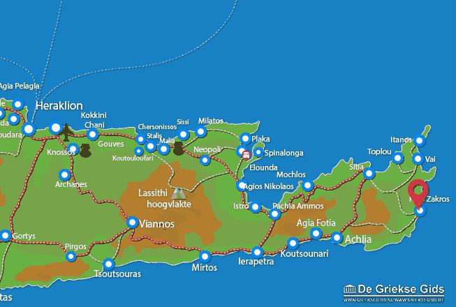 Karte Kato Zakros