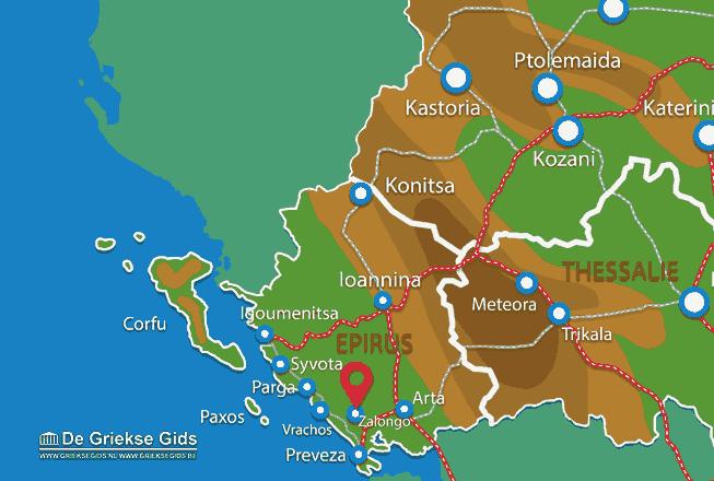 Karte Zalongo
