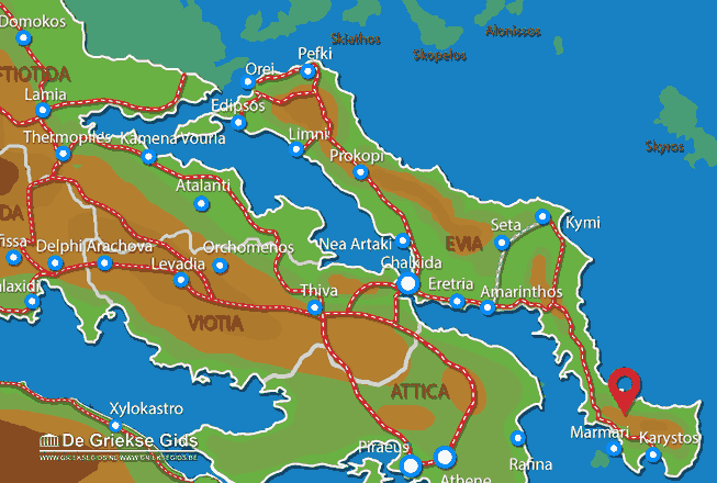 Karte Sud Evia