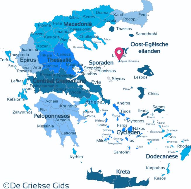 Karte Agios Efstratios