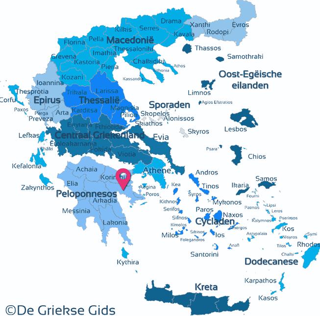 Karte Argolis