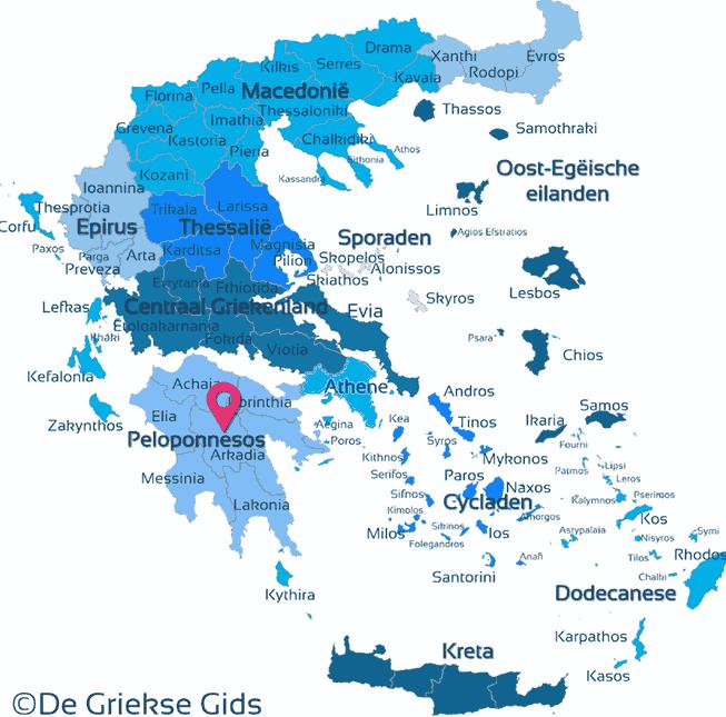 Karte Arkadien