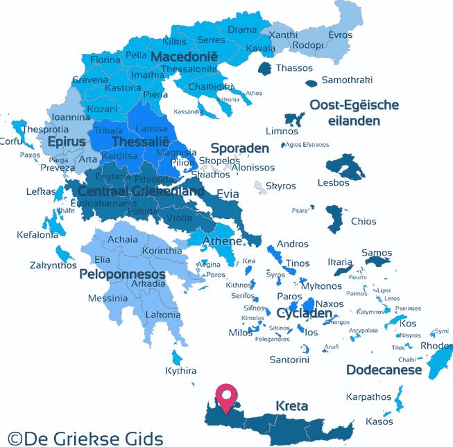 Karte Chania Kreta
