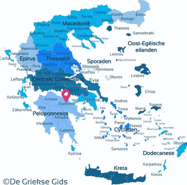 Karte Korinthia