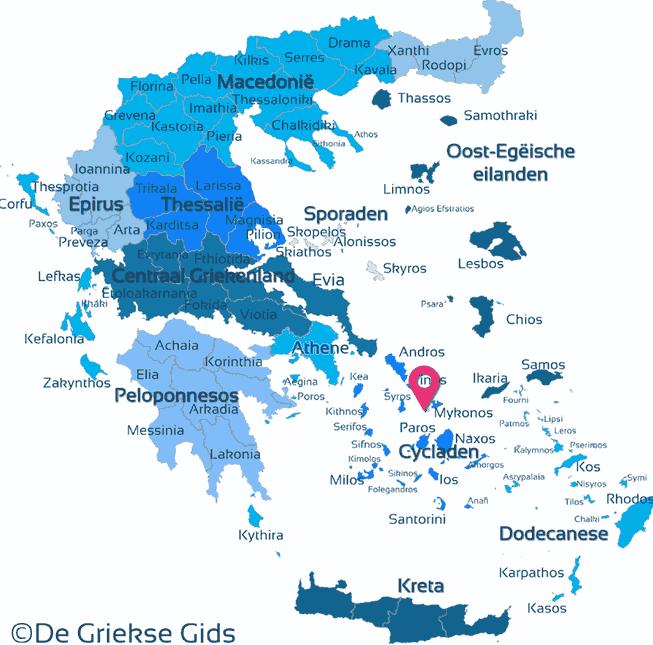 Karte Delos