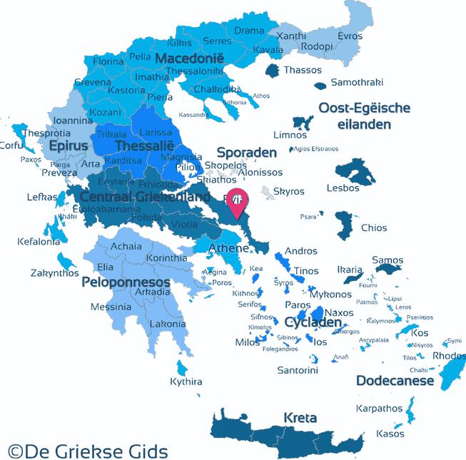 Karte Euboea