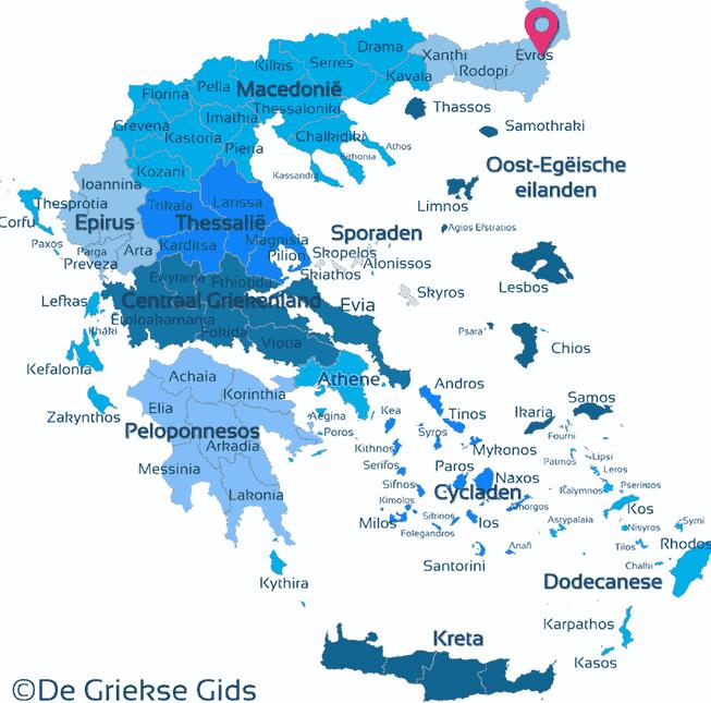 Karte Evros