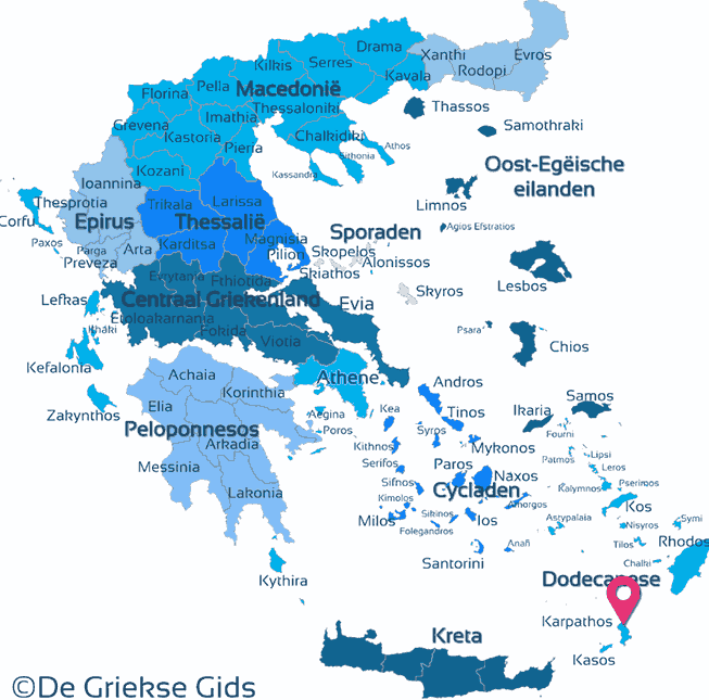 Karte Karpathos