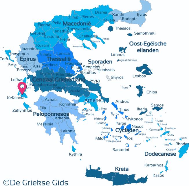 Karte Kefalonia