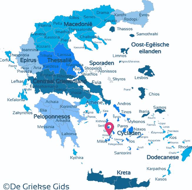 Karte Kimolos