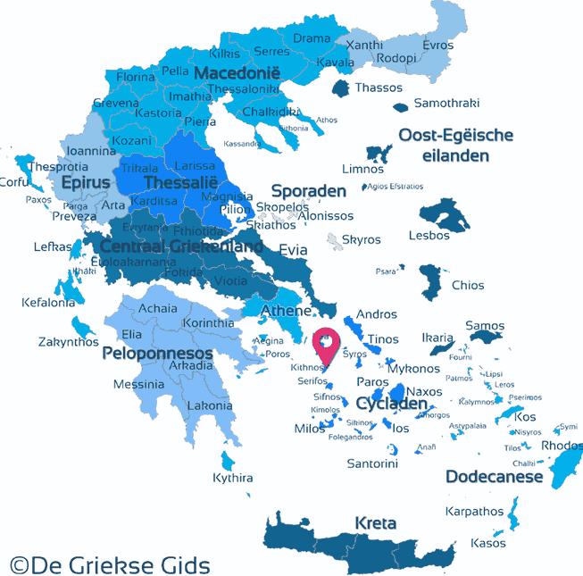 Karte Kythnos