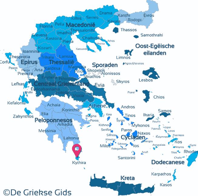 Karte Kythira