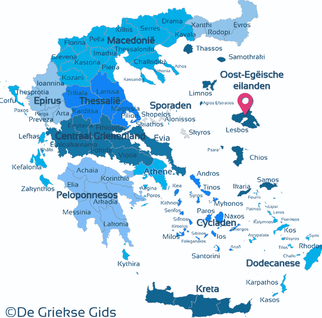 Karte Lesbos