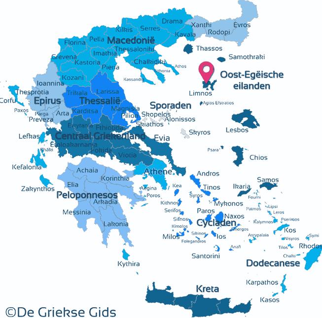 Karte Limnos