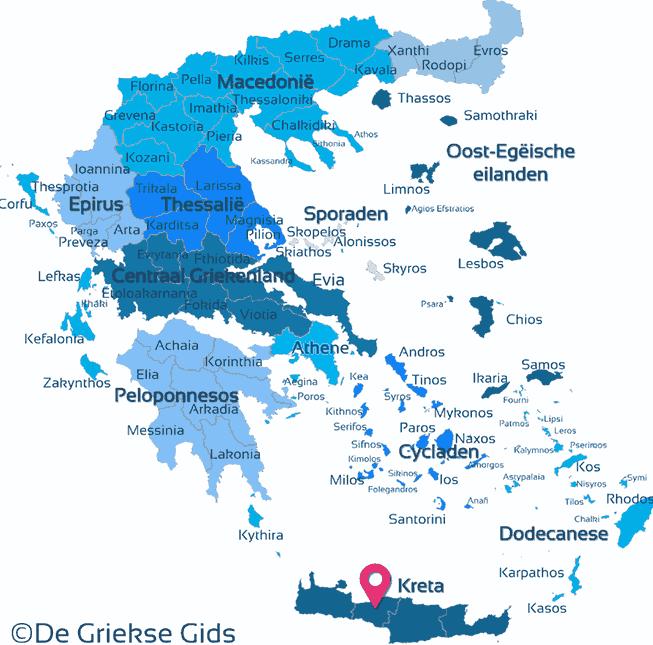Karte Rethymnon Kreta