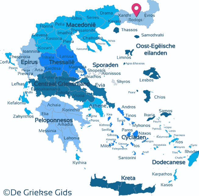 Karte Rodopi
