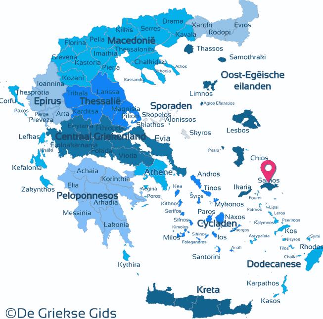Karte Samos