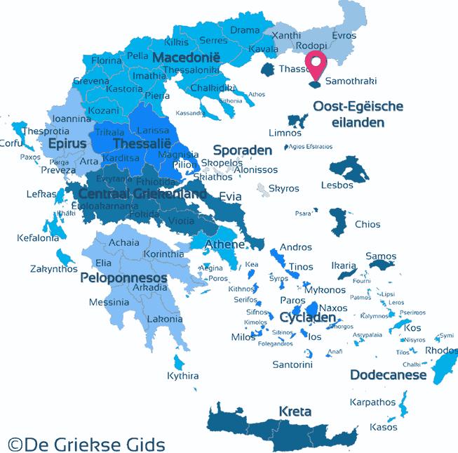 Karte Samothraki